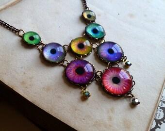 Astound -- Handmade Brass Eye Necklace