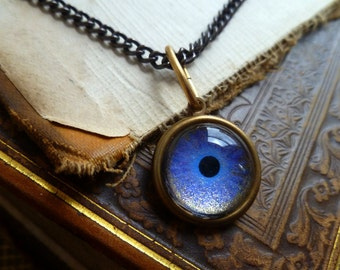 Iris Charm -- Indigo / Medium -- Brass Eye Pendant