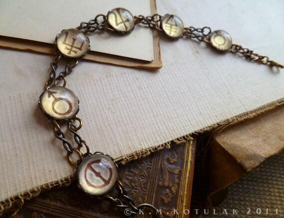 The Alchemist's Apprentice -- Handmade Brass Bracelet