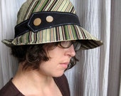 El Sol - Sun Hat in Sandia Stripes - Medium - Eco-Friendly - 371