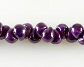 10 Renesme Teardrop Handmade Lampwork Beads - 13mm (22534)