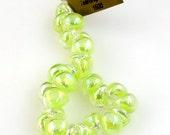 10 Handmade Teardrop Lampwork Glass 13 mm Boro Beads, Luster series Stardust (22258).