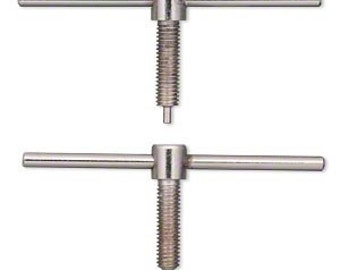 Replacement Drill Bits/Pins for Screw-down Double-sided Hole Punch - Set of Two