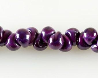 10 Renesme Teardrop Handmade Lampwork Beads - 13mm (2534)