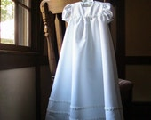 One of a Kind Heirloom Girls Christening Gown (size: 3-6m), Baptism Gown, Traditional White Christening Gown