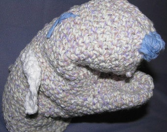 ALL COTTON BATH BUDDY- Lavender Lamb