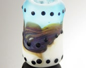 Etched Dots Lampwork Dreadlock Dread Bead SRA
