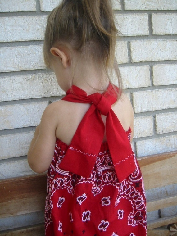 The Original RED Bandanna Halter Dress -- One Size Fits Most