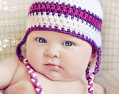 Earflap Hat - Size 0 to 3 Month