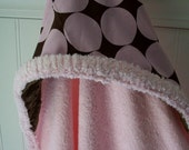 Baby Hooded Towels-Pink-Polka Dots- Minky-Savvy Baby Goodies-Child Beach-Bath-Pool-Kids-Terry Cover Up-Wrap-Kids-Wash Cloth-Gift Set-Girls