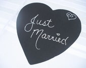 ONE Heart Chalkboard Photo Prop Wedding Sign, Great for Upcoming Spring Wedding - Item 1140