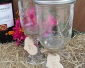Redneck Wine Glasses Set of 2 Wide Mouth Ball Mason Jars for Bride and Groom Toast - Item 1383