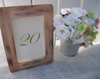 Rustic Barnwood Style Wood Frames for Table Numbers or Signs - Item 1174