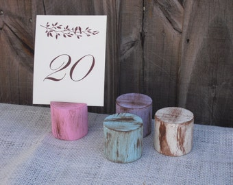 Shabby Chic Wood Table Number Holders (You Choose Color) - Item 1018
