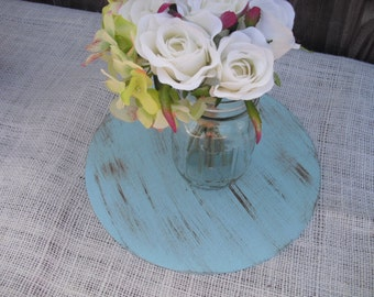Shabby Chic Round Wood Centerpiece Bases (You Choose Color) - Item 1153