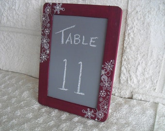 SMALL Winter Snowflake Chalkboards for Signs and Table Numbers or Photo Props - Item 1232