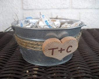 SET OF 10 Washtub Candy Pails Candy Container Favors or Candle Holders - Item 1090