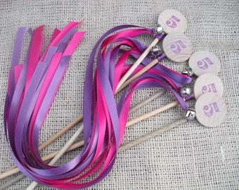 "Princess Wands - SET OF 10 Princess Birthday Party Wands - 2 Ribbons 36"" Each - Item 1045"