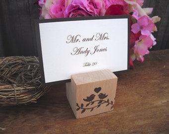 escort card holders set of 10 wood love bird place card holders item