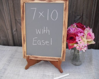 ONE LARGE Rustic Distressed Chalkboard with EASEL for Signs and Table Numbers - Item 1307