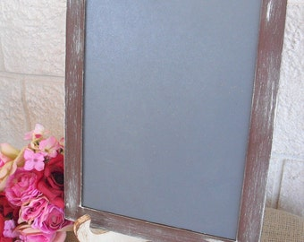 Photo Prop chalkboard Rustic Distressed  with easel for Signs and Table Numbers, Great for Candy or Dessert Bar (You Pick Color) - Item 1273