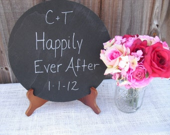 Chalkboard - ONE LARGE Circle Chalkboard with Easel for Photo Props or Signs - Item 1252