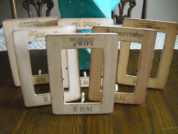 Rustic Wooden Personalized Frame for Signs or Table Numbers - Item 1059