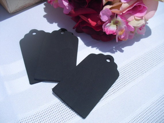 SET OF 10 Chalkboard Tags for DIY projects Favors Gifts - Item 1030
