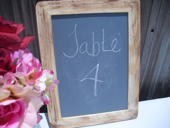 MEDIUM Shabby Chic Rustic Distressed Chalkboard for Signs and Table Numbers or Photo Props - Item 1158