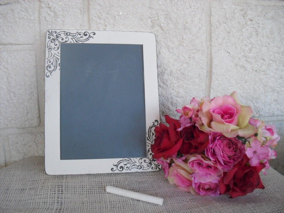MEDIUM Shabby Chic Damask Chalkboards for Signs and Table Numbers or Photo Props - Item 1237