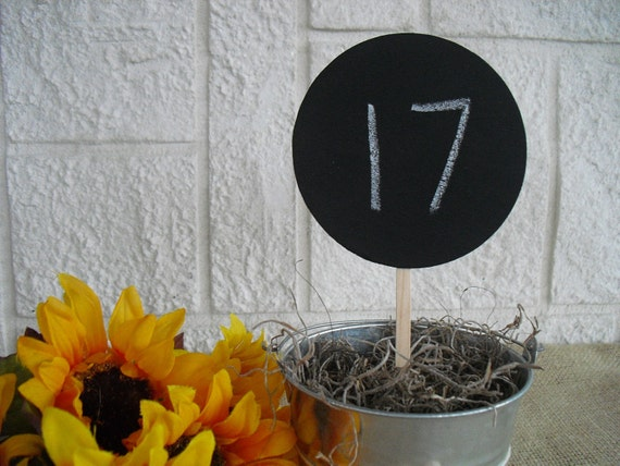 Chalkboard Circles on a Stick for Table Numbers Signs Photo Props - Item 1121