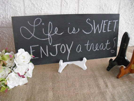 ONE Frameless Rustic Chalkboard with EASEL for Wedding Signs Photo Props - Item 1176