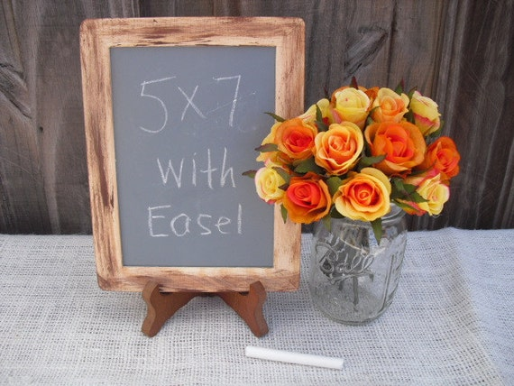 Chalkboard with Easel Rustic Distressed for Sign, Table Number or Photo Prop - Item 1007