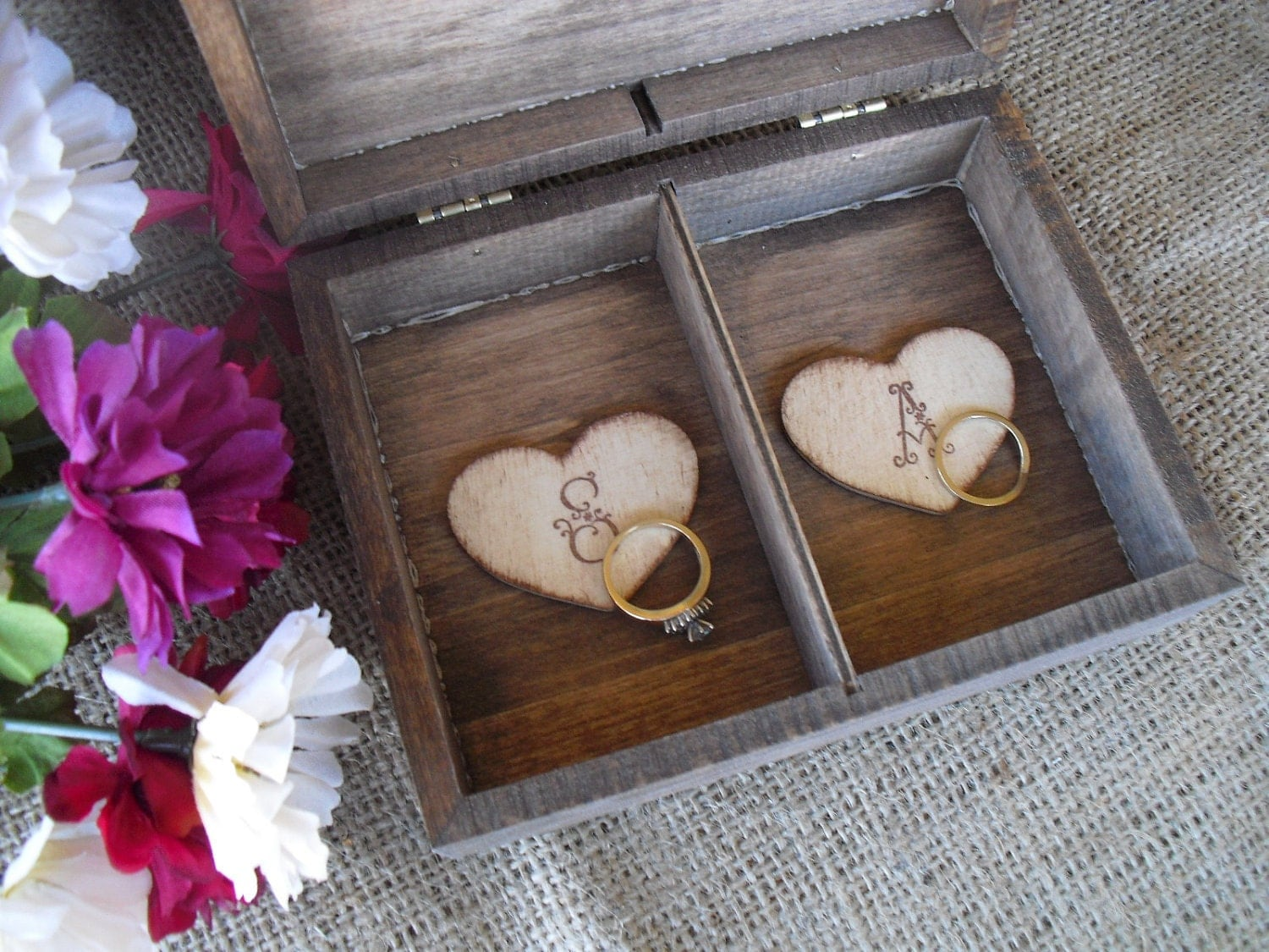 wedding ring box rustic unique ring bearer pillow