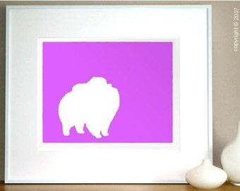 Mod Pomeranian Dog Fine Art Print - 8x10