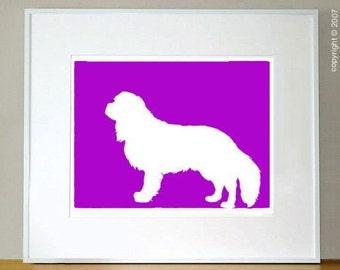 "Mod Cavalier King Charles Spaniel Print 5x7"""