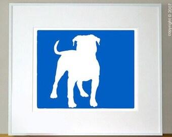 Mod American Bulldog Print - 5x7