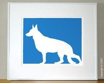 Mod German Shepherd Dog Print - 8x10