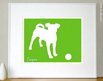 Your Custom Pet Silhouette - Commission an Original Mod Dog Print - custom made from your photo