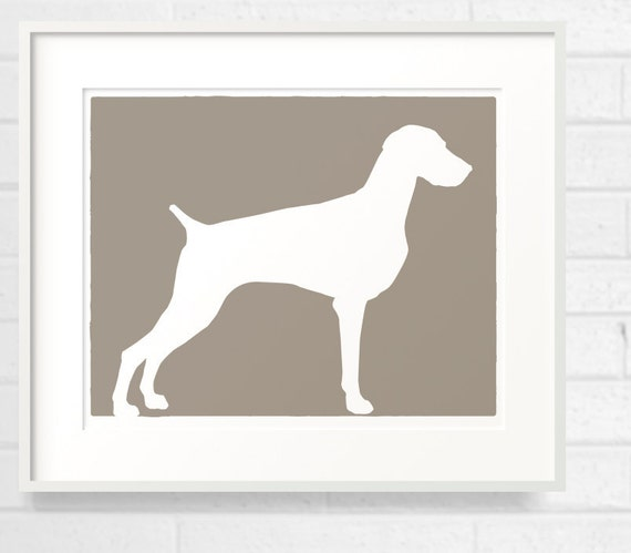 Mod Weimaraner Dog - Grey Ghost - 8x10 Fine Art Print