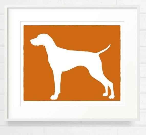 Mod Vizsla Dog - Pointer - 8x10 Fine Art Print