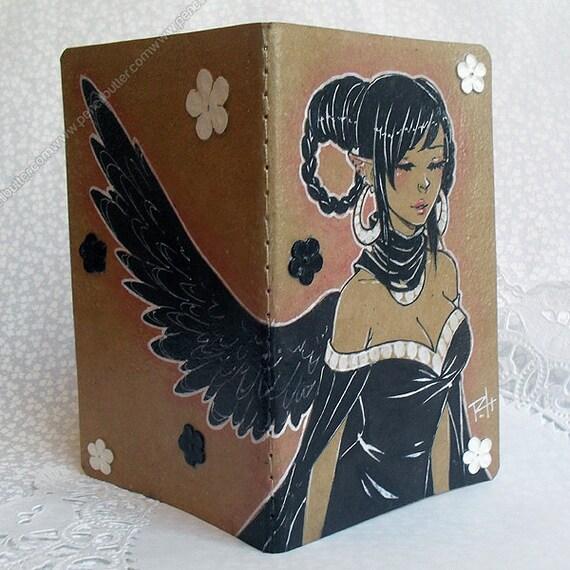 One of a Kind Moleskine Journal - anime/manga elven angel girl