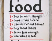 Food Buy It With Thought Vintage-Based 16 x 20 Limited Edition Canvas