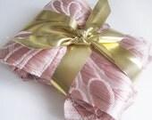 pink metallic floral jacquard - destash bundle