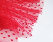 "Red spot tulle fabric - 44"" wide - sold per metre"