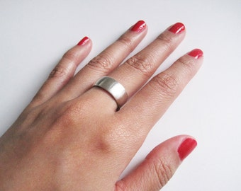 Made to Order - brushed 925 sterling silver band ring
