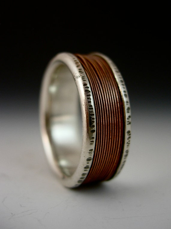Items Similar To Copper Wire Channel Ring On Etsy