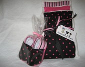 Baby Shower Gift Set - Couture Burp Cloths and Baby Booties - PunkRockGirl