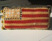 Vintage Style American Flag Pillow