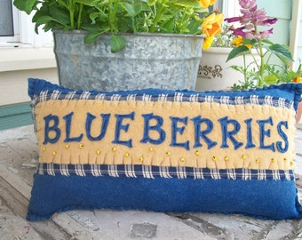Vintage Style Blueberry Pillow